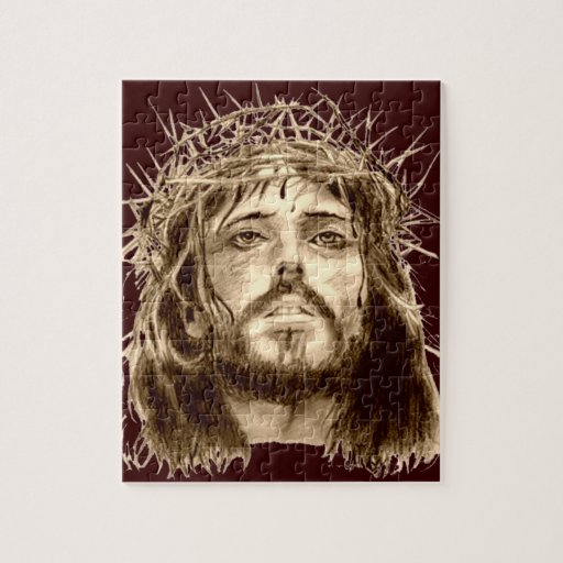 Jesus Christ with a Crown of Thorns Puzzle