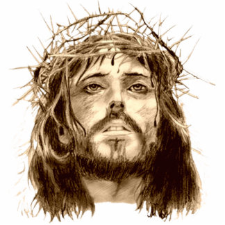 Jesus Christ with a Crown of Thorns Statuette