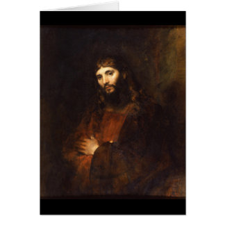 Jesus Christ with Arms Crossed Card