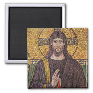 Jesus Christ with Holy Spirit Flame Mosaic Fridge Magnets