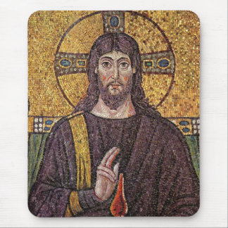 Jesus Christ with Holy Spirit Flame Mosaic Mouse Pad