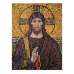 Jesus Christ with Holy Spirit Flame Mosaic Post Card