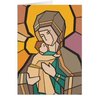 JESUS CHRIST WITH MOTHER MARY CARD