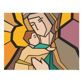 JESUS CHRIST WITH MOTHER MARY POSTCARD