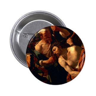 Jesus Christ with the Crown of Thorns Button