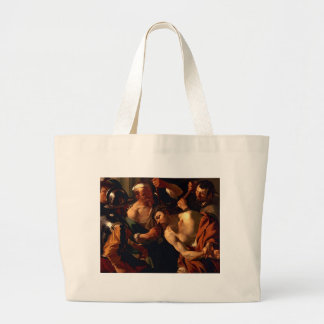 Jesus Christ with the Crown of Thorns Large Tote Bag