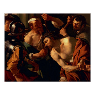 Jesus Christ with the Crown of Thorns Poster