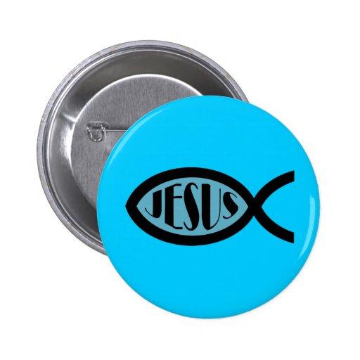 JESUS Christian Fish Symbol Pin