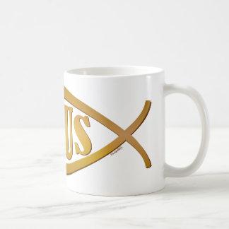 Jesus + Christian Fish Symbol Coffee Mug