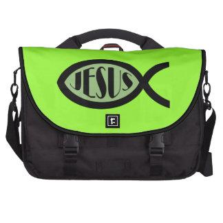 JESUS Christian Fish Symbol Commuter Bags