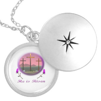 Jesus christian gifts round locket necklace