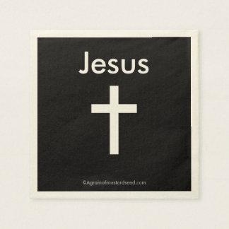 Jesus Christian Symbol Cross Disposable Napkin