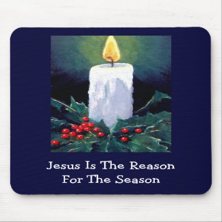JESUS: CHRISTMAS: CANDLE: ART MOUSE PADS