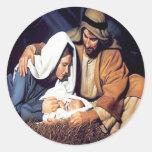Jesus Christmas Sticker Round Sticker