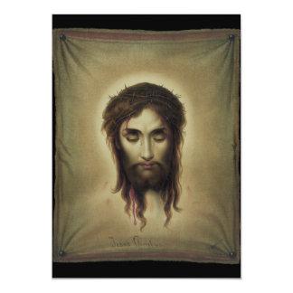 """Jesús Christus por Kurz y Allison (1880) Invitación 5"""" X 7"""""""