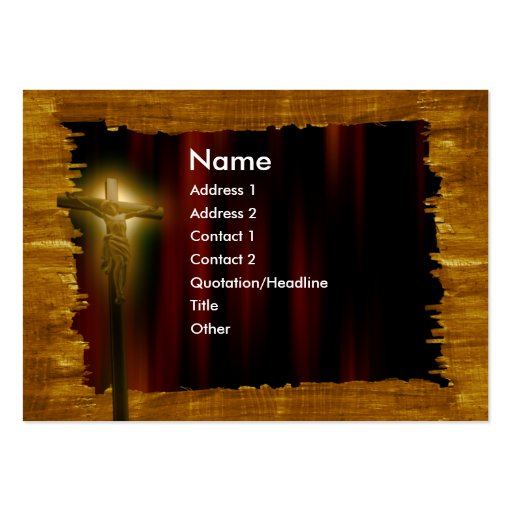 Jesus church large business cards pack of 100 zazzle for Church business cards templates free