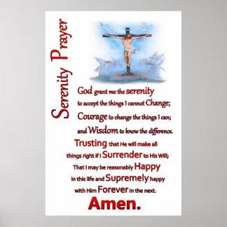 Jesús clavó a una cruz de madera el rezo de la póster