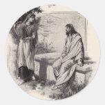 jesus-clip-art-1 pegatina redonda