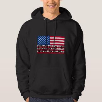 Jesus coil the American people Hooded Sweatshirt