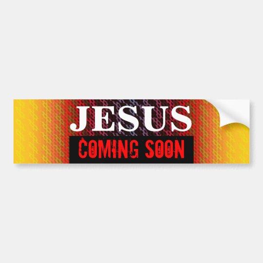 JESUS COMING SOON Bumper Sticker