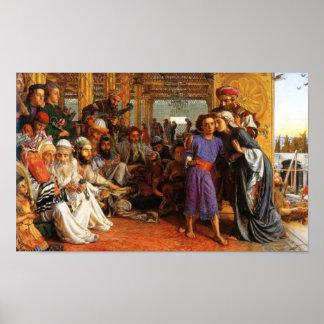 Jesús como niño encontrado en el templo (2:39 de L Póster
