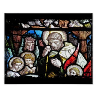 Jesús como vitral del pastor impresiones