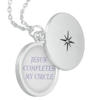 Jesus Completes My Circle Round Locket Necklace
