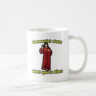 Jesús comunista taza de café
