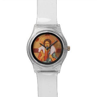 Jesús con el cordero en sus hombros reloj