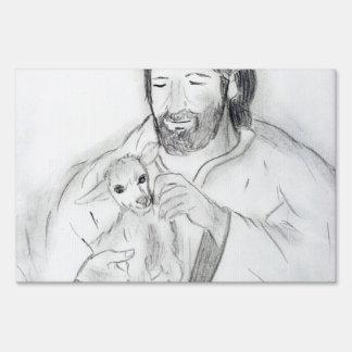Jesús con el cordero señal