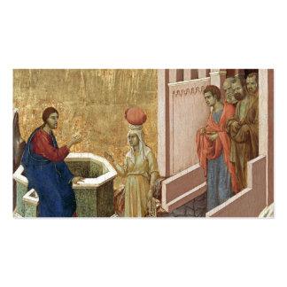 Jesús con la mujer en el pozo tarjetas de visita