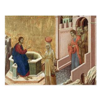 Jesús con la mujer en el pozo tarjetas postales