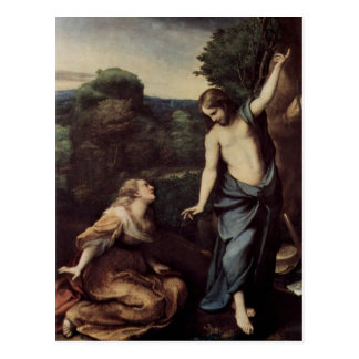Jesús con Maria después de la resurrección Postal