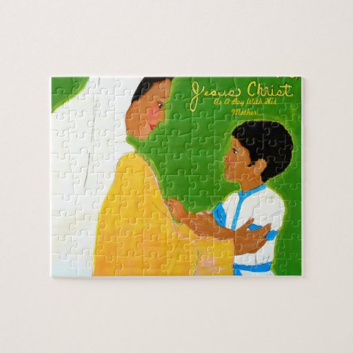 Jesús con su madre puzzles con fotos