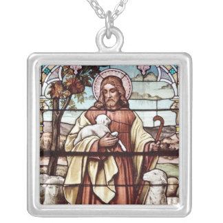 Jesús con sus ovejas pendientes personalizados