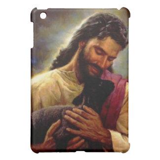 Jesús con una caja negra del cojín del cordero I