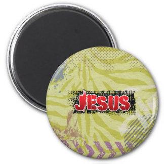 Jesus concrete splash by  chrisitanstores magnet