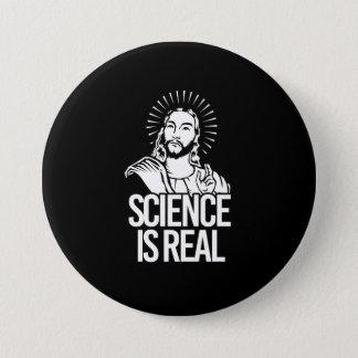 Jesus Concurs - Science is Real - white - - Pro-Sc Pinback Button