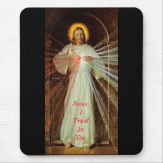 Jesús confío en en usted tapetes de ratón