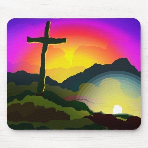 Jesus Conquers Death Mouse Mats