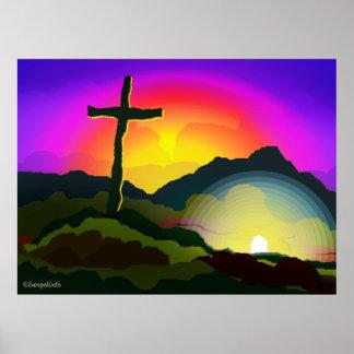 Jesús conquista muerte póster
