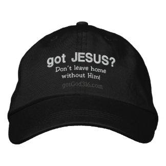 ¿Jesús conseguido? lanas de gotGod316.com Gorras De Beisbol Bordadas