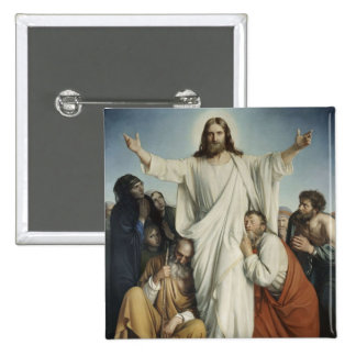 Jesus Consoles Crowd Pinback Buttons
