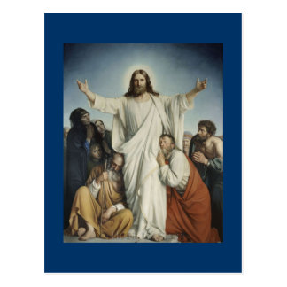 Jesus Consoles Crowd Postcard