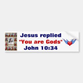 Jesús contestó a la pegatina para el parachoques pegatina para auto