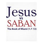 Jesús contra Saban Plantilla De Membrete