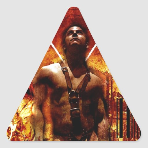 Jesús contra Satan Colcomanias Trianguladas Personalizadas