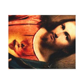 Jesús - corazón sagrado impresion en lona