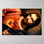 Jesús - corazón sagrado posters