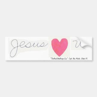 Jesús (corazón) u, Destin, pegatina para el parach Pegatina De Parachoque